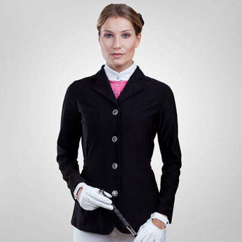 Horze Ladies Shirley Softshell Show Jacket - Black