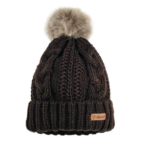 Pikeur Hat with Faux Bobble - Espresso